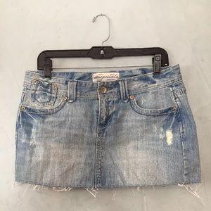 Denim Jean 7 8 Short Aeropostale Distressed Skirt